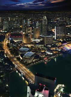 An Aerial View of Marina Bay from 1-Altitude Singapore