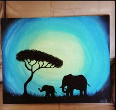 Elephant painting! @Stephanie Wright Lakatos We could actually do this one!