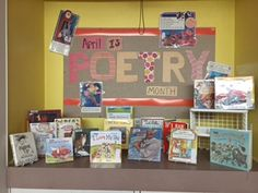 Children's Poetry Month Display at the Plainville Public Library 2016