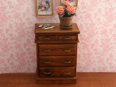 B213 from The Wonham Collection. Carl Schmieder Ltd. Dollhouse chest of drawers.