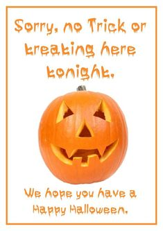 This no trick or treating free printable should help keep the trick or treaters away this Halloween if you'd prefer they didn't knock on your door. Halloween Poster, Halloween Signs, Diy Halloween Decorations, Halloween 2020, Halloween Stuff, Halloween Crafts, Halloween Ideas, Happy Halloween, Halloween Party