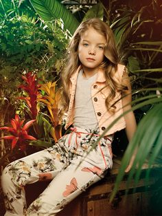 Romantic allure and blooming atmosphere on ALALOSHA featuring a FRACOMINA MINI adorable dresses. When you look at it you feel calmness and peacefulness! Kids Wardrobe, Floral Pants, Child Models, Ss 15, Spring Summer 2015, Beautiful Children, Kids Wear, Editorial Fashion, My Girl