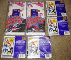 Vintage Mighty Morphin Power Rangers MMPR Birthday Party Supplies NOS L@@K!