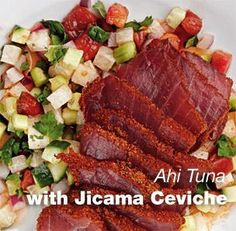 Ahi Tuna with Jicama Ceviche