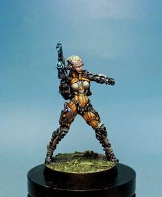 Studio Giraldez  (Angel Giraldez) painted these miniatures in Corvus Infinity. (he) used: Infinity CR PLus Harder & Steenbeck Airbrush Model Color, Game Color and Model Air Acrylicos Vallejo Publicado por Ángel Giráldez