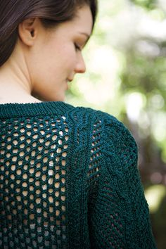 Mesh Crewneck - Knitting Patterns and Crochet Patterns from KnitPicks.com by Edited by Knit Picks Staff