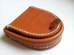 Handgemachte Hoof Style Leder Geldbörse / Gehäuse von LeatherdeHome