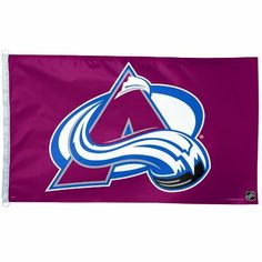 NHL Colorado Avalanche 3-by-5 Foot Flag by WinCraft. $25.99. Officially licensed 3' x 5' flag with attached D-rings. The imprint is 1% show through to the backside with a long lasting color-fast die. Fly on a flagpole or hang it on a wall. Flags come poly-bagged with header and graphic displayed. Made in USA.