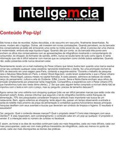 Artigo: Conteúdo Pop-Up! | Fonte: Portal InteligeMcia, por Tatiana Pereira