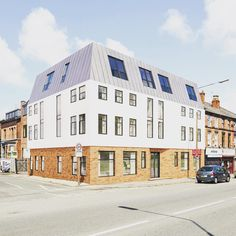 JMA West Derby Road housing renovation receives planning permission. Brick base, render facade and zinc inhabited roof