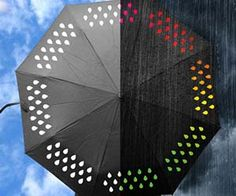 Brighten up any gloomy and rainy day with the color changing umbrella. Apart from keeping you nice and dry during storms, the fun water droplet design...