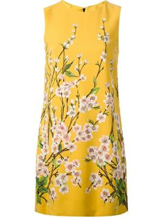 DOLCE and GABBANA Floral Print Shift Dress