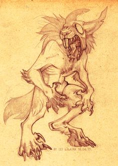 werebunny by =LiLaiRa on deviantART. I'm guessing it would be carnivorous? Rabbit Drawing, Rabbit Art, Fantasy Creatures, Mythical Creatures, Animal Drawings, Art Drawings, Anthro Furry, Character Design Animation, Wow Art