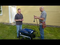Ask This Old House master electrician Scott Caron visits Alaska to install a portable generator with a manual transfer switch to power hardwired appliances l. Emergency Generator, Portable Generator, Power Generator, Emergency Power, Generator Transfer Switch, Home Safety Tips, New Yankee, House Wiring, U Tube