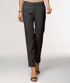 Gabardine Ankle Pant in Gray Heather, $129, L.L. Bean Signature