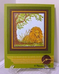 One Happy Stamper: Resting.  Designed and created by Naomi Witzke.  Stampin' Up! Zoo Review, Nature Silhouettes.