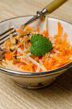 Karotten-Kohlrabisalat mit Rosinen und Minze © Ariane Bille