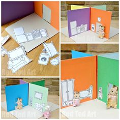 Free Printable To Make This Shoebox Dollhouse And Inhabit It