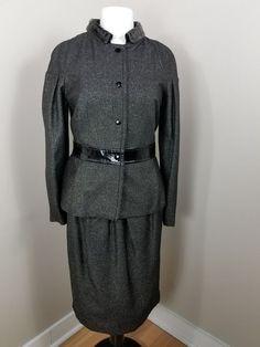 81e642dbd9f960 DOLCE&GABBANA D&G Black Gold Skirt Suit size IT 44 US 8 #