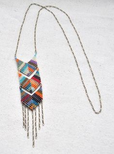 triple chevron necklace by janna