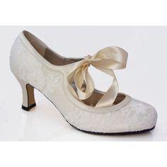 Violette Wedding Shoes | vintage, lace, ribbon tie, round toe, shoe boot | Bridal Shoes, Bride Shoe, Low Heel, High Heel | Bespoke Big Day