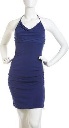 7d9e802099f ShopStyle  Nicole Miller Ruched Halter Dress Neiman Marcus Dresses