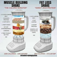 🔥 MUSCLE BUILDING vs FAT LOSS 🔥 ⠀ I touched on Protein Shakes in a post last week, but this is a really great visual by showing just how easy it is to tailor a Shake to fit your daily health goals. ⠀ Shakes are not needed BUT they Healthy Weight Gain, Fast Weight Loss Tips, How To Lose Weight Fast, Losing Weight, Weight Gain Plan, Gain Weight Food, Weight Gain Shake, Reduce Weight, Drinks To Lose Weight