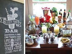 bloody mary bar for your shower or engagement party