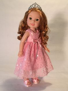 Princess in Pink for WellieWisher sized dolls by SewDolledUp81