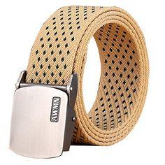 Amazon.com: Fairwin Men's Military Tactical Web Belt, Nylon Canvas Webbing YKK plastic Buckle Belt(Black-B): Clothing