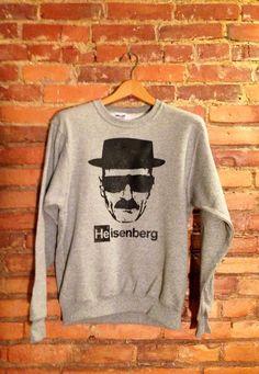 Heisenberg Sweatshirt #breakingbad #heisenberg http://www.etsy.com/listing/159765592/heisenberg-sweatshirt-breaking-bad
