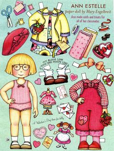 (⑅ ॣ•͈ᴗ•͈ ॣ)♡                                                             ✄Mary Engelbreit Paper Doll Ann Estelle
