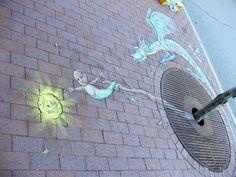 By David Zinn #DavidZinn #Street #Art