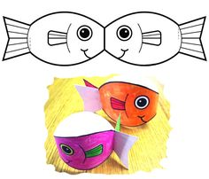 Fish Paper Craft, Art N Craft, Paper Crafts, Sea Crafts, Fish Crafts, Diy For Kids, Crafts For Kids, Arts And Crafts, Little Girl Crafts