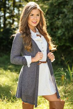 Knit Happens Cardigan-Cadet Blue - New Today | The Red Dress Boutique