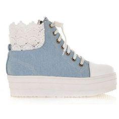 DENIM platform shoes blue (9.295 HUF) ❤ liked on Polyvore featuring shoes, sneakers, denim, denim platform shoes, platform shoes, blue platform shoes, blue shoes and denim shoes