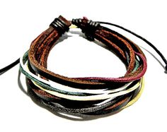 Leather and Hemp Bracelet Surfer Cuff by CookalasHouseOfCards, $3.50