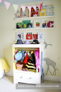 Love the look of this -- the dress-up closet was a DIY project!