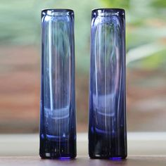 Per Lutken, Holmegaard: Pair of 'Safir' Vases