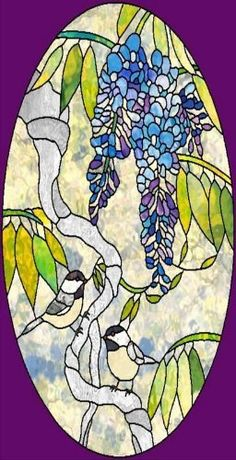 Blue Purple Iris Etched Vinyl Stained Glass Film Static Cling - Custom vinyl decals for glass removal options