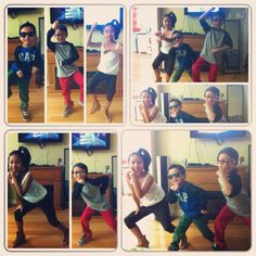 AWW LITTLE KIDS DOING THE GANGMAN STYLE!! :)