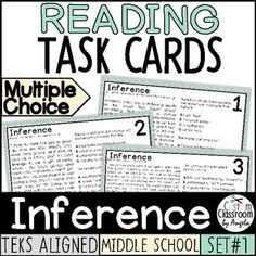 Reading Task Cards, Reading Test, Reading Practice, Reading Skills, Going Back To School, Middle School, Standardized Test, Staar Test, Writing Test
