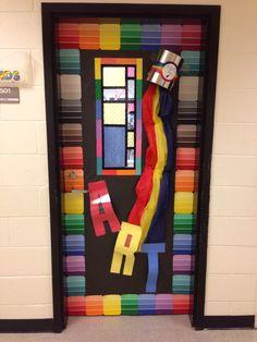 My art room door. Idea from Pinterest.