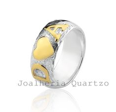 Aliança de prata Suzana, par com 10 gramas de prata e 1 grama em ouro.  #aliança de namoro, #compromisso, #prata