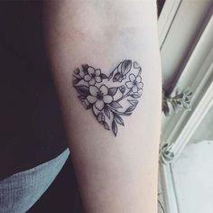 Floral Heart Design for Flower Tattoo Ideas for Women