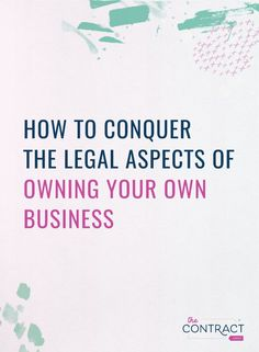 Does the legal aspect of your business worry or make you want to give up? In this podcast, I'm sharing the legal things you should know as a small business owner. // The Contract Shop -- Starting A Business, Business Planning, Business Tips, Online Business, Legal Business, Business Entrepreneur, Business Marketing, Entrepreneur Ideas, Own Your Own Business