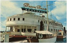 Postcard: Seven Seas Seafood Restaurant, North Vancouver, BC Floating Restaurant, Seafood Restaurant, Vancouver Bc Canada, Vancouver Island, Tug Boats, Whistler, North Shore, Old Pictures, Historical Photos