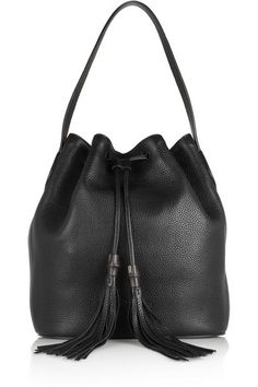 Gucci - Lady Tassel textured-leather bucket bag de5be80fcee32
