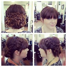 Greek goddess Up-do by Meghan Bryan- Salon Beyond Basics- Wilmington, NC 910-452-0072  Up-do  Prom hair Wedding hair Braids