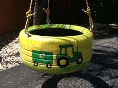 John Deere Tractor Tire Swing from www.cooltireswings.com